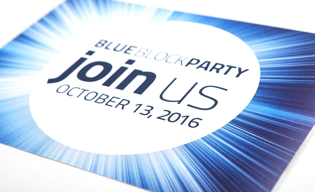 BlueBash Block Party Invite Collateral