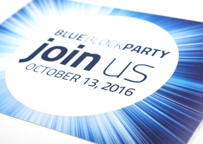 BlueBash Block Party Invite Collateral